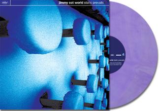 Jimmy Eat World  Static Prevails  2LP, 180 Gram LAVENDER Audiophile Vinyl  2 bonus tracks, insert, original artwork, gatefold